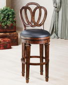 30in Dover Bar Stool With Leather Seat - THD2833