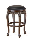 24in Backless Fleur De Lis Swivel Counter Stool - THD2842