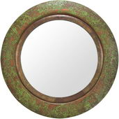 Aqua Pear Round Aged Copper Finish Mirror by TKC - TKC3435