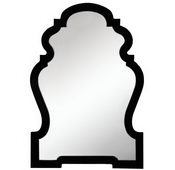Aqua Pear Glossy Black Finish Mirror by TKC - TKC4068