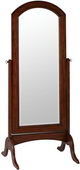 Rustic Mahogany Finish Beveled Floor Mirror - TKC4374