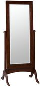 Tobacco Finish Beveled Floor Mirror - TKC4377