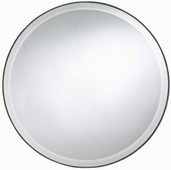 Aqua Pear Seymour Round Mirror by TKC - TKC3861