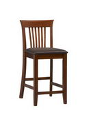 24in Dark Cherry Triena Collection Craftsman Counter Stool - TLN5014