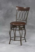 24in Matte Bronze Four Oval Back Counter Stool 24 - TLN5044