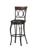24in Brown & Black (Brush Strokes) Circles Back Counter Stool 24 - TLN5074