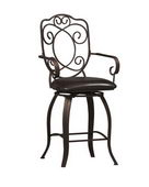 24in Crested Back Counter Stool 24 - TLN5110