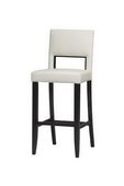 30in Espresso Frame Vega Bar Stool 30 in White - TLN5149