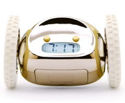 Clocky the Running Away Alarm Clock in Gold Color