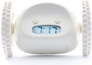 Clocky the Running Away Alarm Clock in White Color by Nanda Home - UBC6406