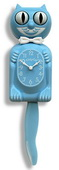 12.75in Collectors Edition Baby Blue Kitty Cat Clock Moving Eyes & Tail - UBK6326