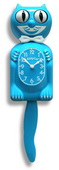 12.75in Scuba Blue Kitty Cat Clock Moving Eyes & Tail - UBK6350