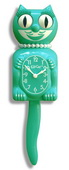 15.5in Emerald Green Lady Kit-Cat Clock Moving Eyes & Tail - UBK6224